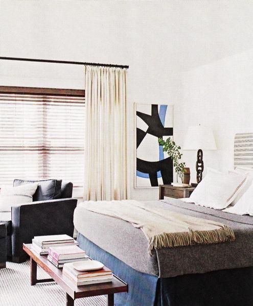 White Walls Paint Color, Ivory Gray Striped Upholstered