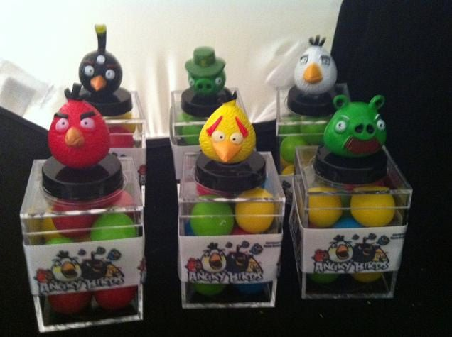 Angry Bird Birthday party favors by angilee123 on Etsy