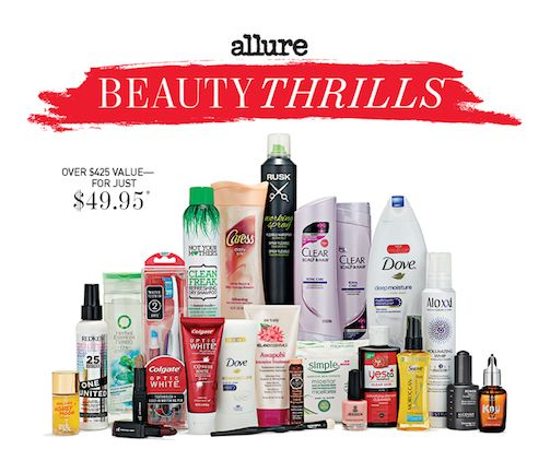 Allure Beauty Thrills Winter Box 2015 Pink Orchid Makeup Beauty Makeup Fashion Belleza Maquillaje Mod Allure Beauty Allure Beauty Box Beauty Box