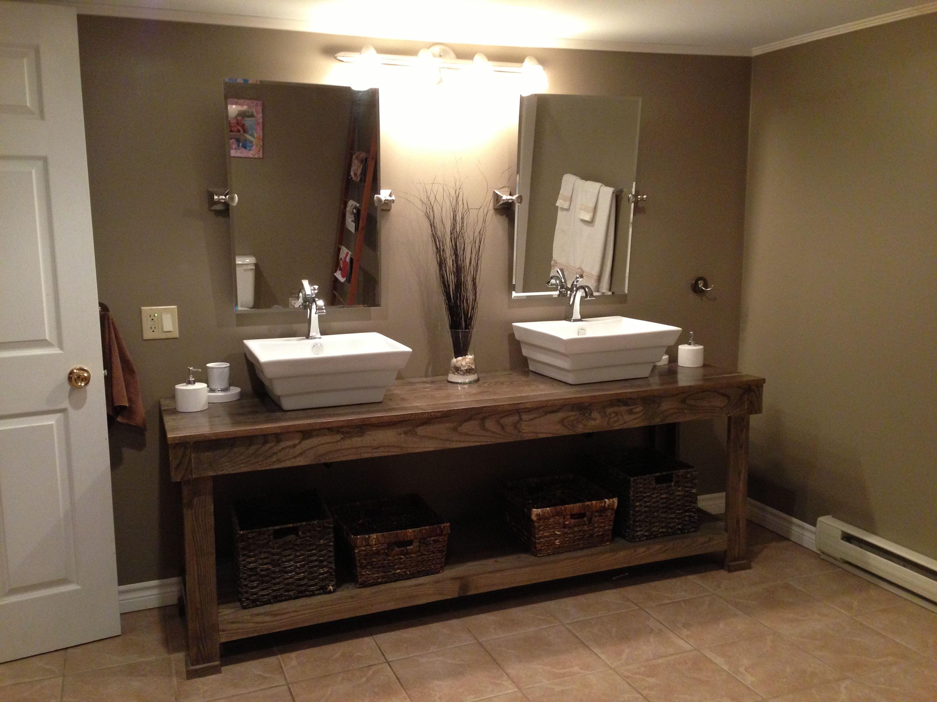 Foot Bathroom Vanity Made from Ash Wood Bathroom Vanity