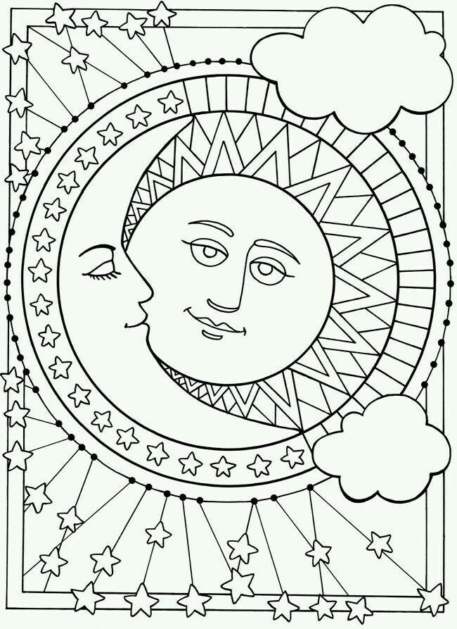 Eclipse Ceramics Moon Coloring Pages Star Coloring Pages
