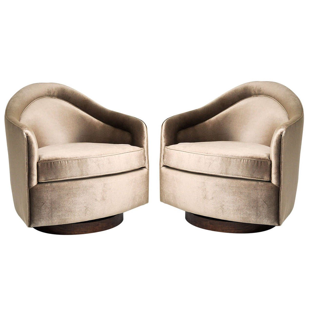 Captivating View This Item And Discover Similar Swivel Chairs For Sale At   Pair Of  Rock And Swivel Chairs By Milo Baughman.