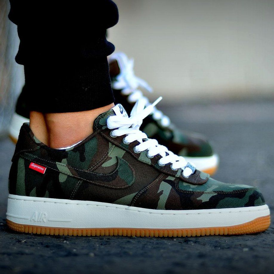nike air force 1 low supreme black camo jeans