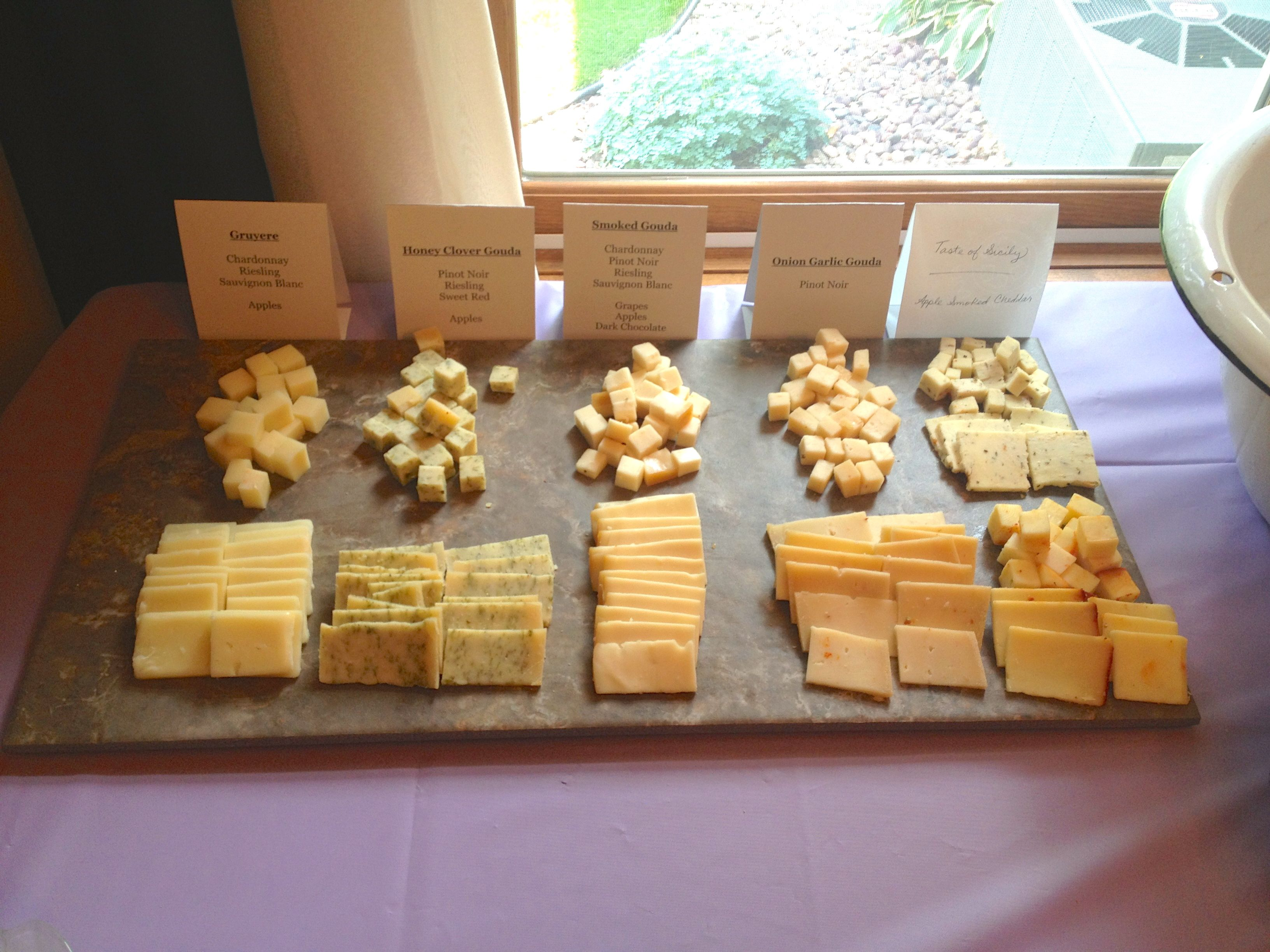 Bridal Shower Cheese Spreadleftover Floor Tiles For Displaying Chunks And Slices Of