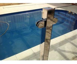 Semi Frameless Glass Pool Fence Design With Stainless Steel Post Glass Pool Fencing Pool Fence Fence Design
