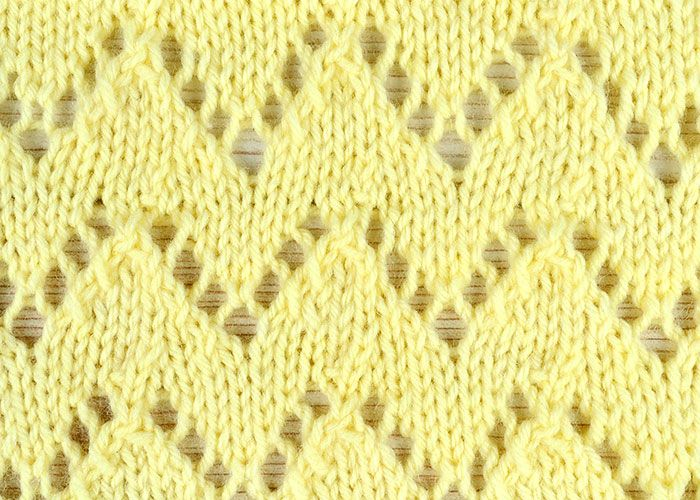 How to knit the eyelet zigzags stitch - free tutorial