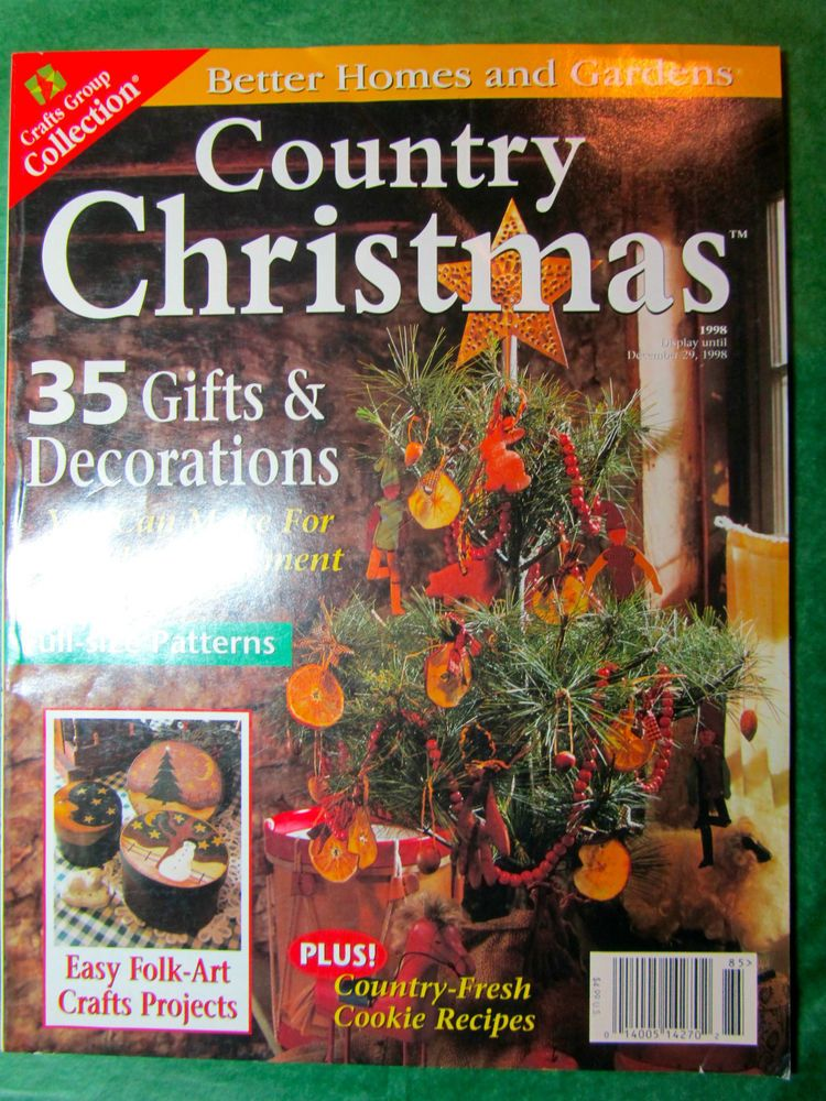 1 - VINTAGE BETTER HOMES & GARDENS COUNTRY CHRISTMAS ...