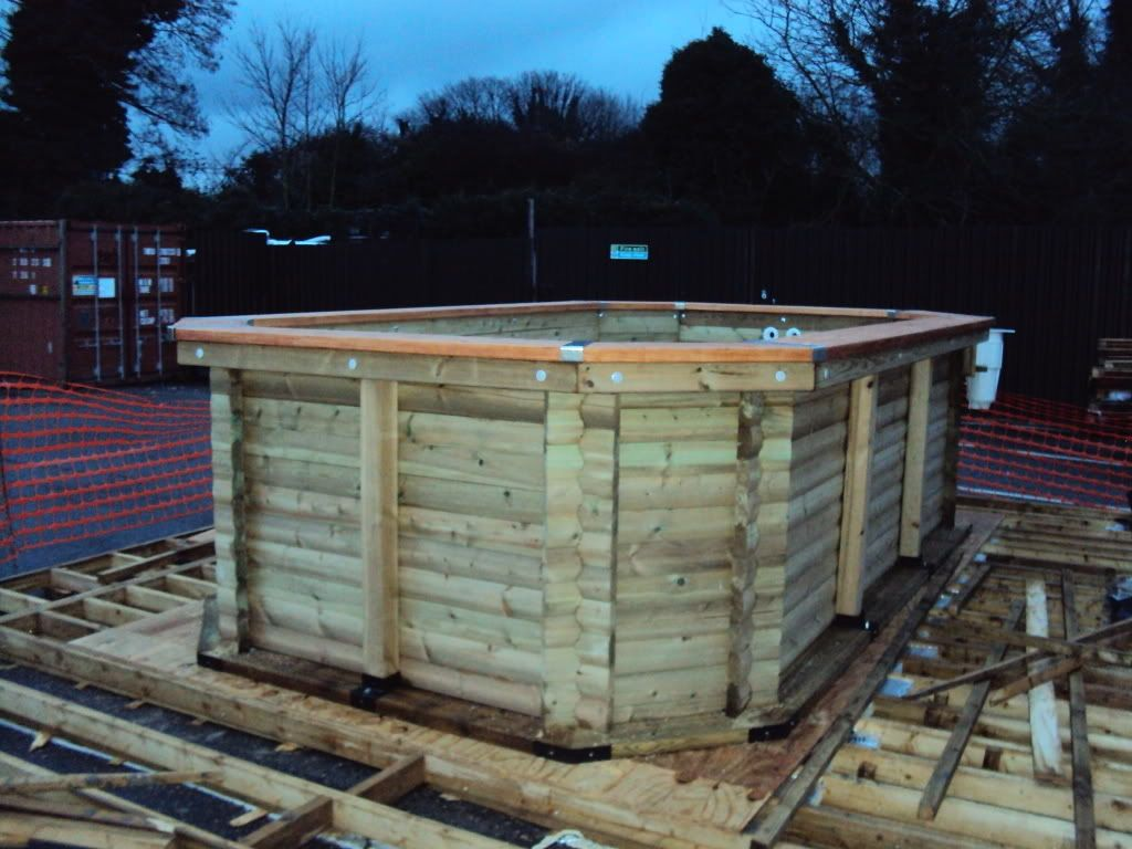 Dumpster Pools Deep End Above Ground Wooden Swimming Pool Construction Building