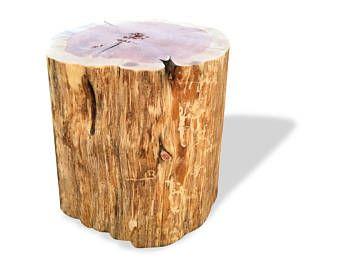 Rustikale Tische baumstumpf tisch echte zeder log möbel stumpf couchtisch