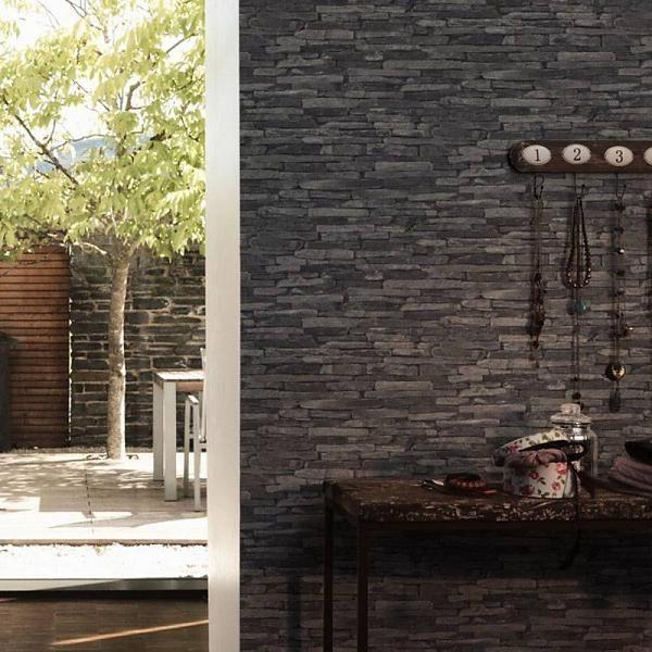 A.S. Creation Steen Behang Wood \'N Stone 914224 hal   Slaapkamer ...