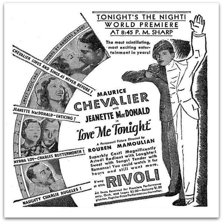 Image result for love me tonight 1932 poster