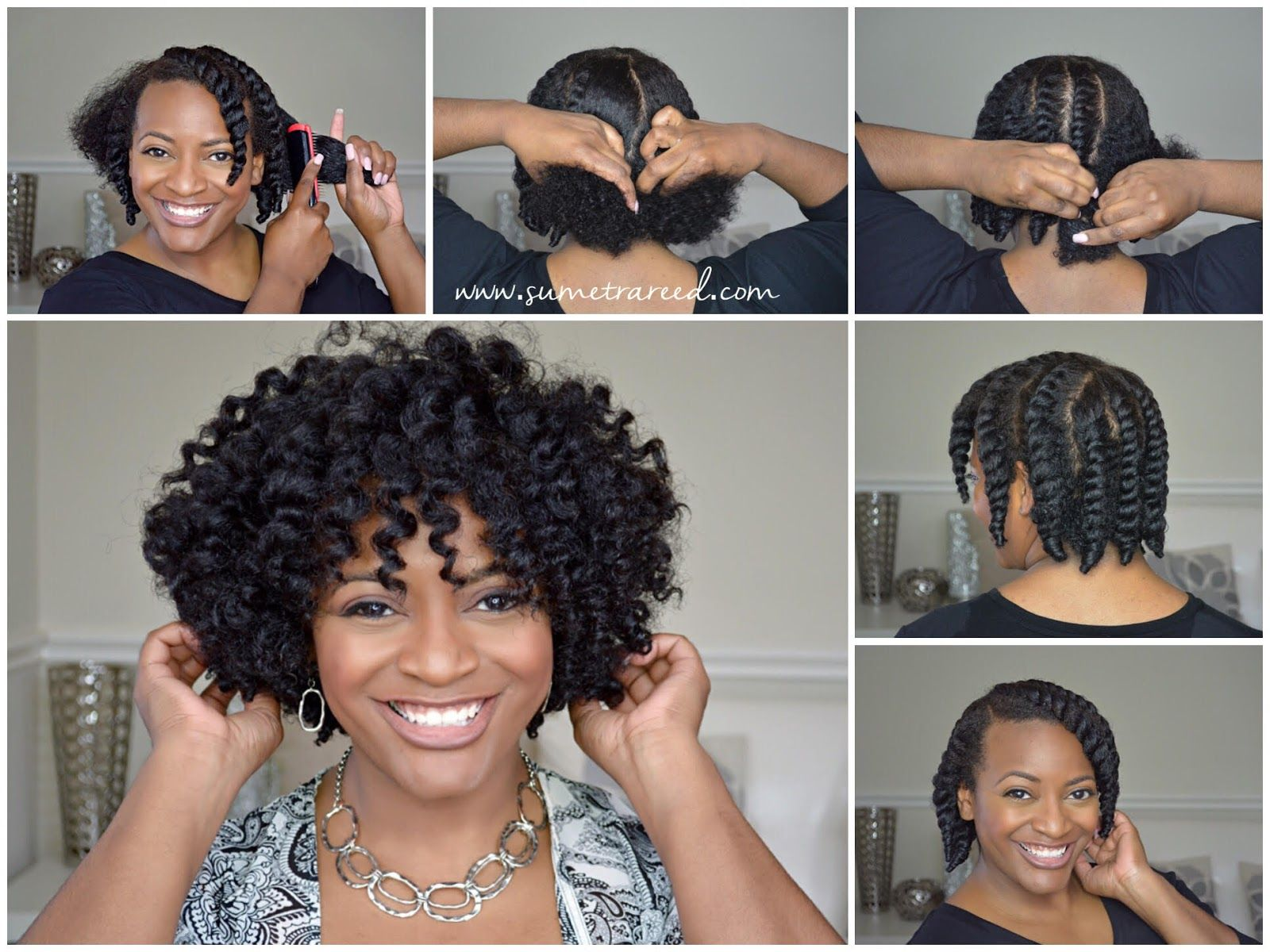 Easy chunky flat twistout tutorial for natural hair curly nikki