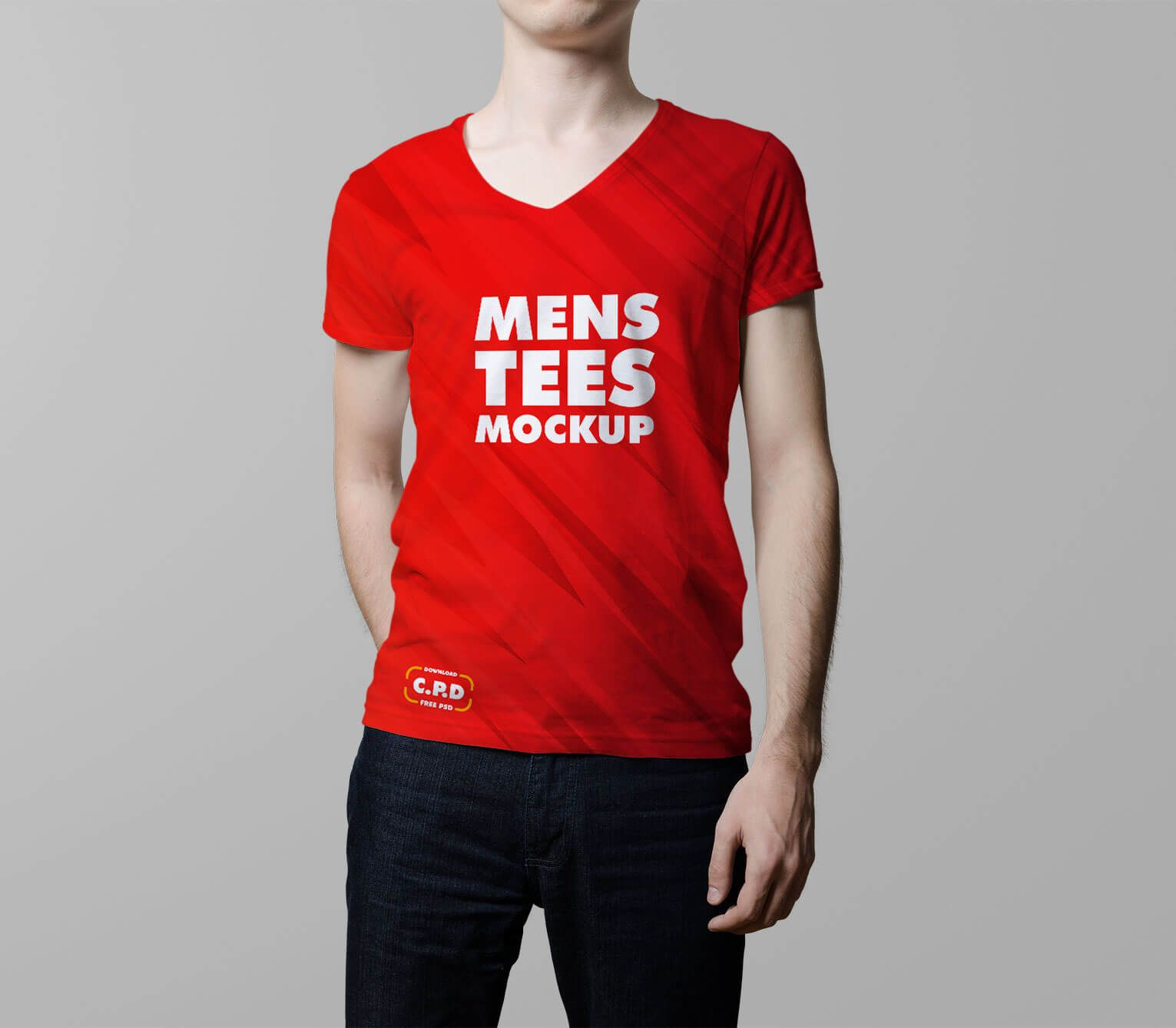 Download V Neck Male T Shirt Mockup Free Psd Pixelify Best Free Fonts Mockups Templates And Vectors Shirt Mockup Tshirt Mockup Clothing Mockup