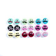 Everyone's gone mad for 'taches! Brighten up your day with 9 pairs of colourful button studs, or share them with your friends for full-on party fun!