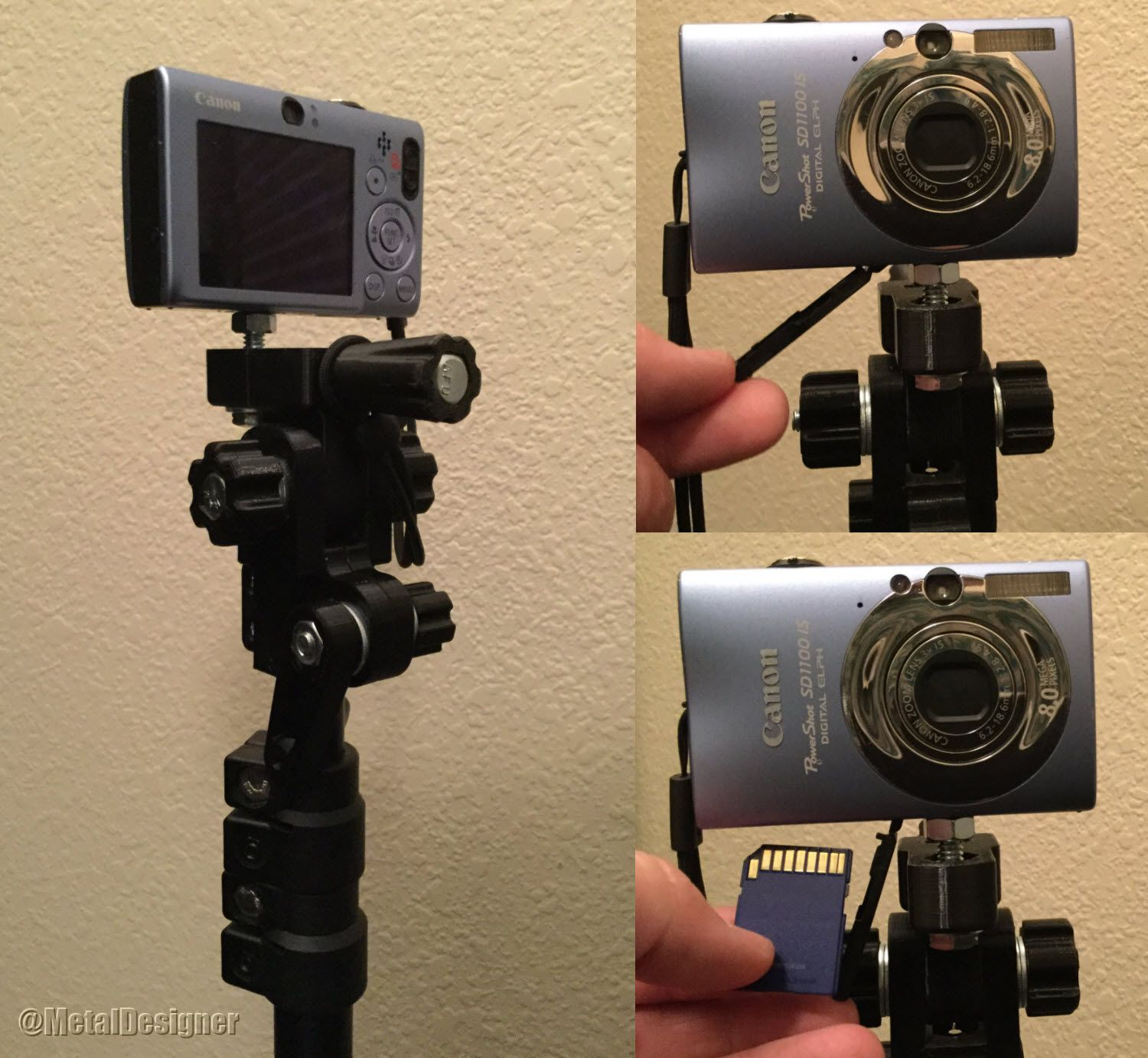 3D Printed Camera Mount for Smith-Victor RS8 Aluminum Light Stand Tripod