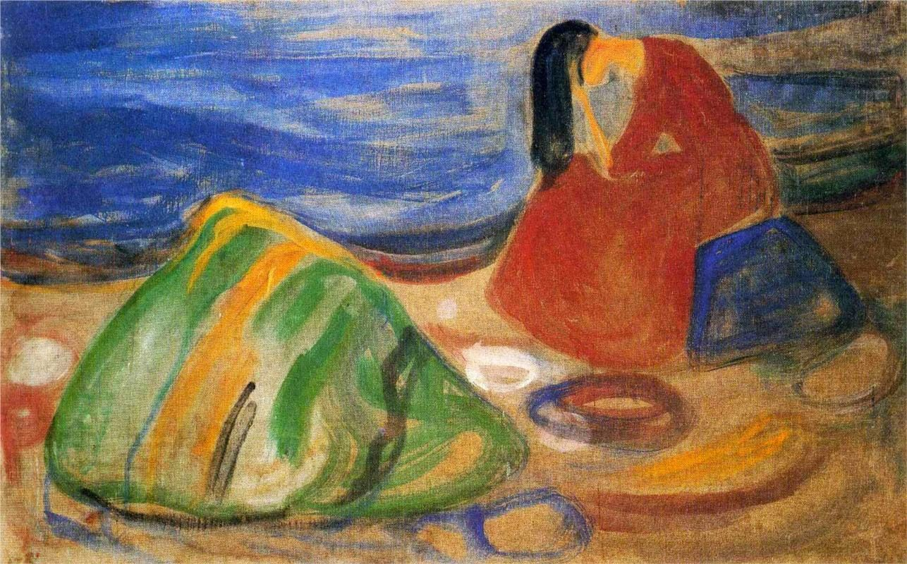 1906 Weeping Woman on the Beach tempera on canvas 88 x 141.5 cm Munch Museum, Oslo
