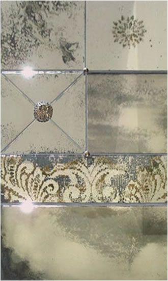 Wonderful foxed mirror decorative effects. | Aged mirror ...