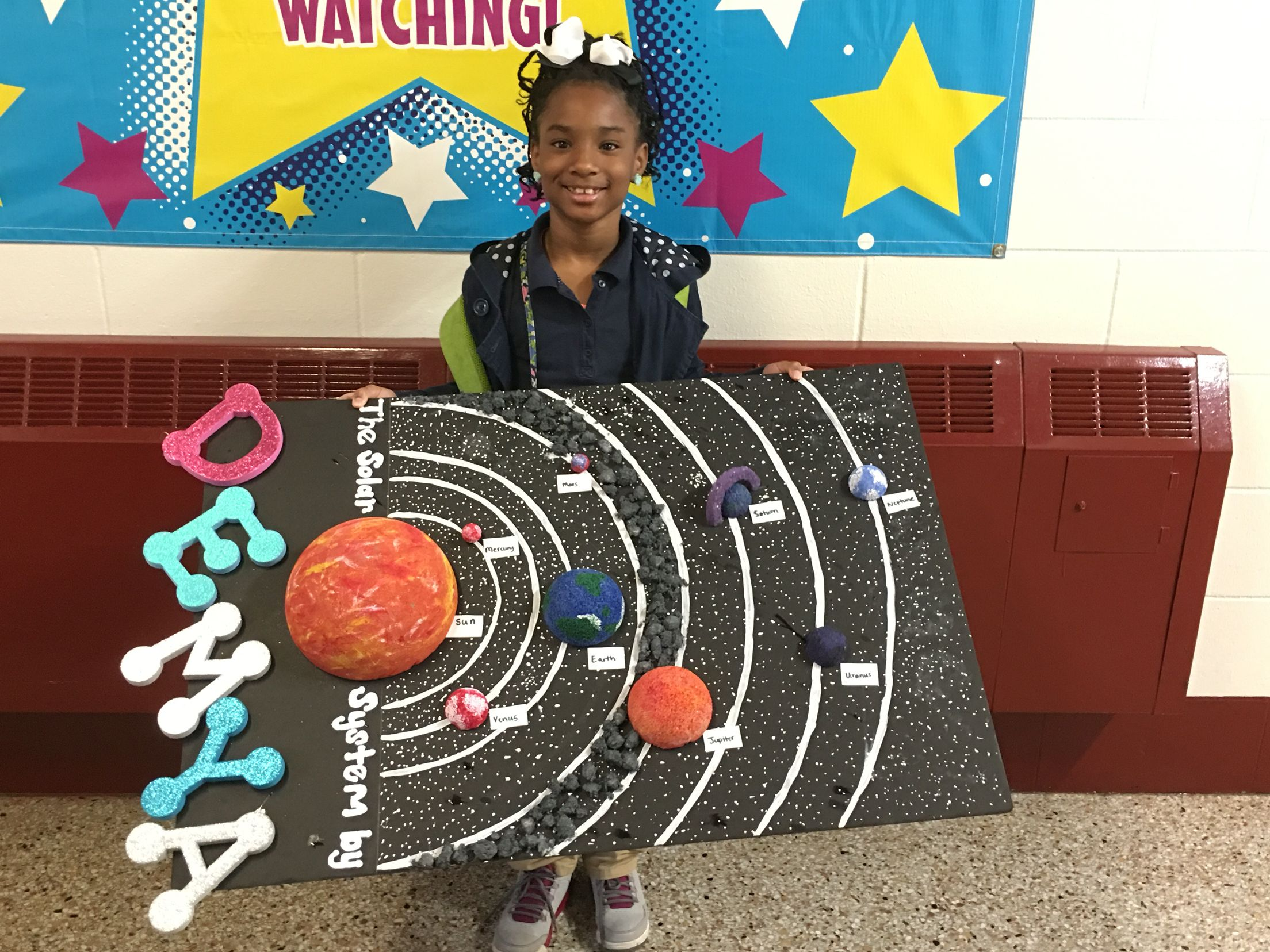 Solar System with asteroid belt #project