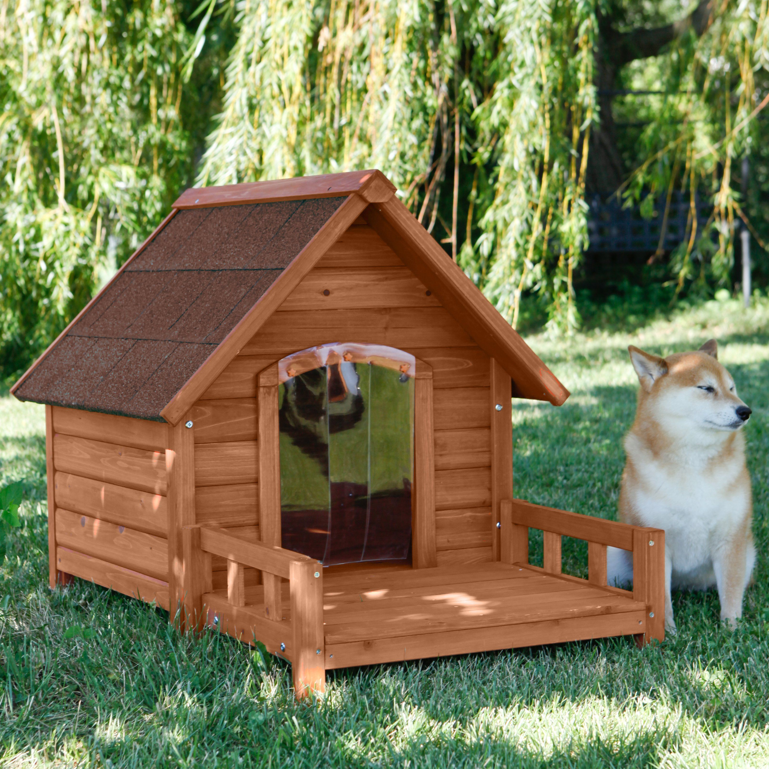 Have to have it. Ware Ultimate A-Frame Dog House with Optional Patio ...