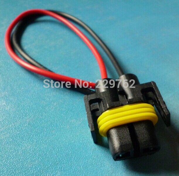 Free Shipping 50pcs H8 H11 Socket Xenon Harness Plugs Connector LED Light Bulb Holder Fog Car Truck Lamp socket