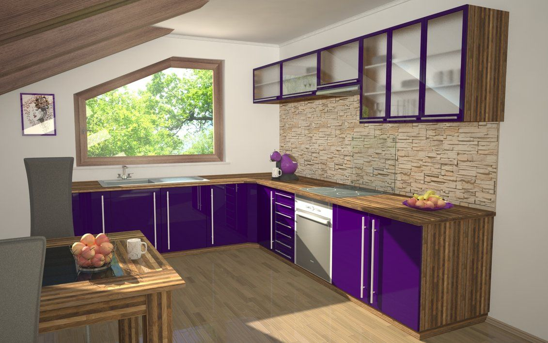 purple kitchen   Purple Kitchen By Slographic Dgfutb listed ...