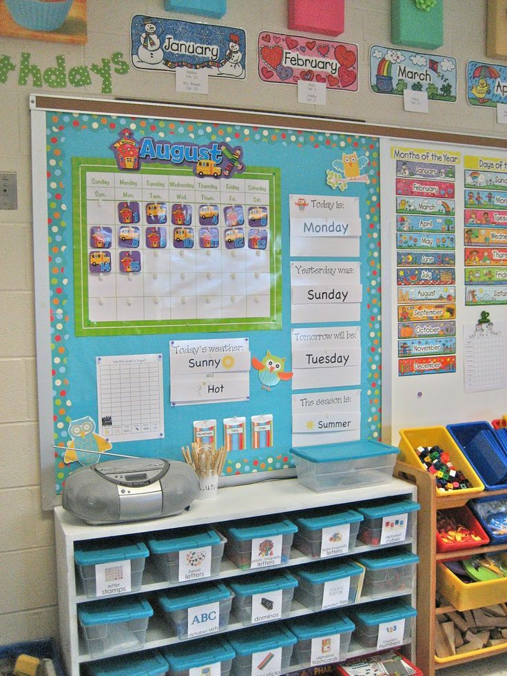 Smartboard Kindergarten Calendar : Great ideas for an organized room love the idea of