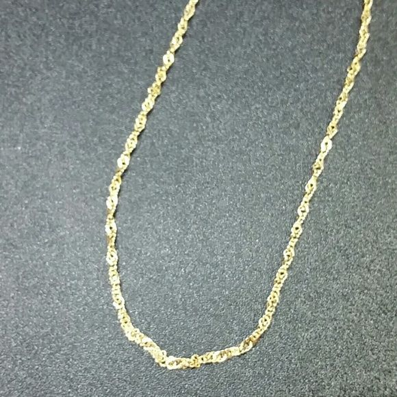 "14k Gold Sparkle link Necklace 18"" 14k Gold Sparkle link Necklace 18"". 2mm wide. Marked 14k Italy. 4.3 grams Jewelry Necklaces"