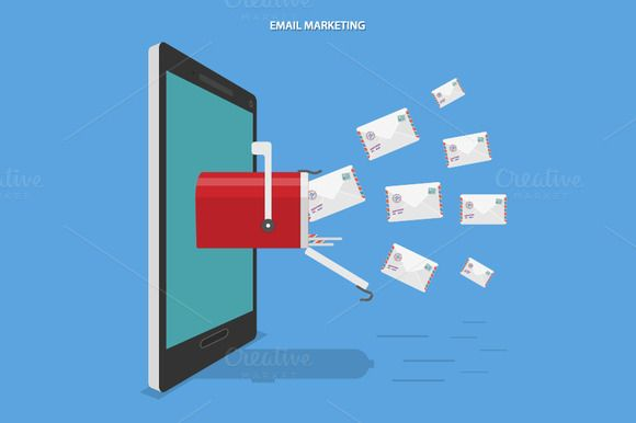 Email marketing concept by AndriiStore on Creative Market