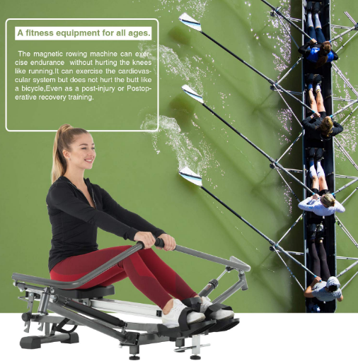 10 Level Losseness And 3 Level Slope Adjustment It Is Suitable For Users Of Different Heights And The Higher The Rowing Machines Mini Trampoline Workout Rowing