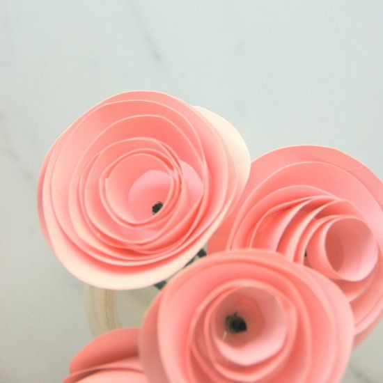Make These Sweet Little Rosettes Out Of Cardstock Paper Hot Glue