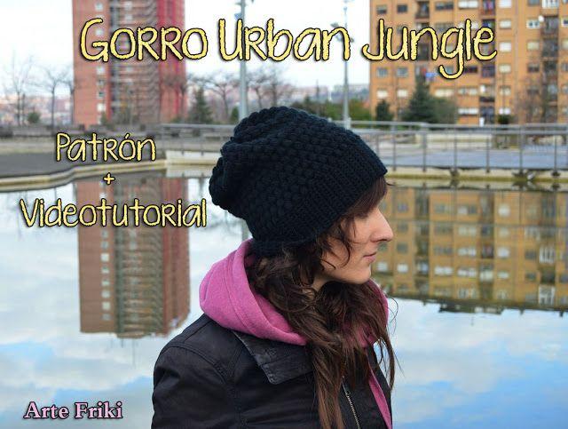 Arte Friki: Patrón Gorro Urban Jungle Gratis | Crochet | Pinterest ...