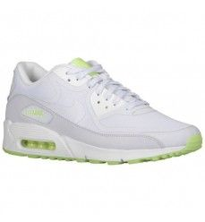 wholesale dealer 3456c eebd1 Chaussures Soldes Nike Air Max 90 Comfort Premium Tape Glow in the Dark  Homme Code de Style 16317103 Blanc  Laboratoire Vert  Gris Geyser-20