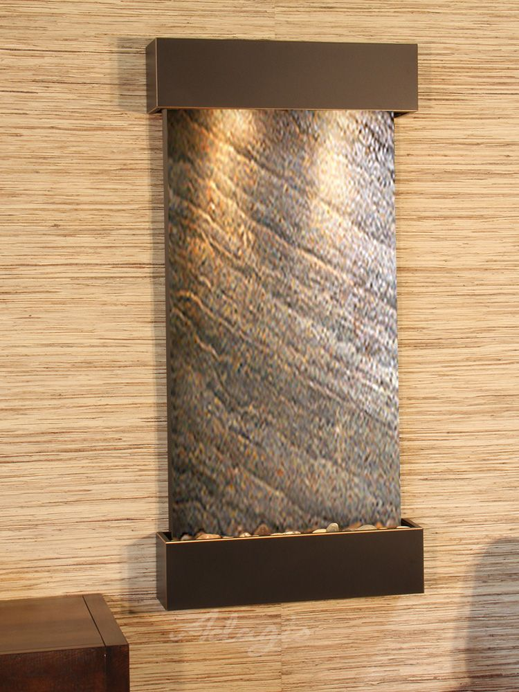 The Whispering Creek Wall Water Fountain Is Both Physically Beautiful And Totally Perfect Positioned Vertic Wall Fountain Tabletop Fountain Water Feature Wall
