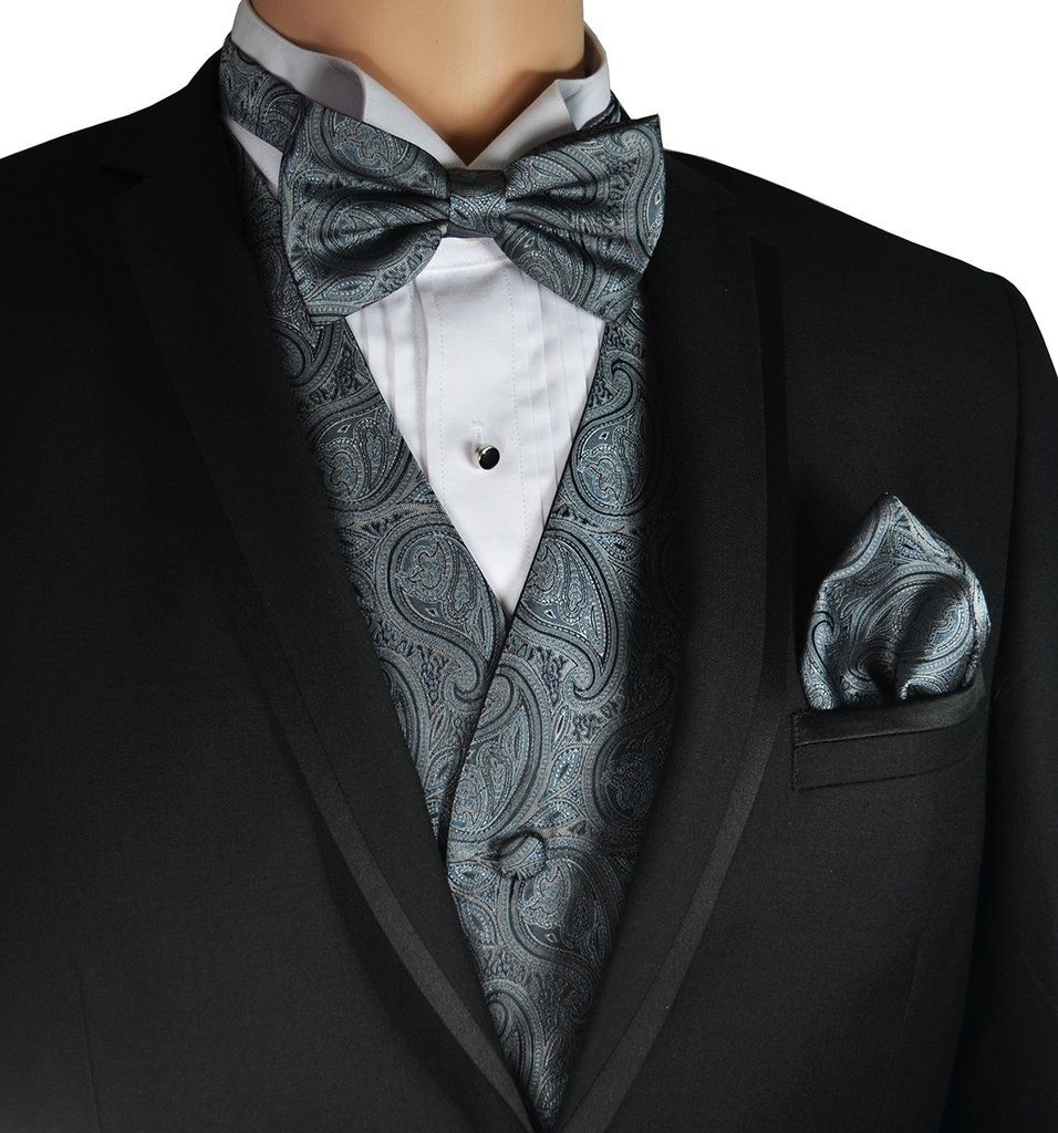 Navy and Grey Silk Bow Tie for Men Made in USA Bow Tie Love Story