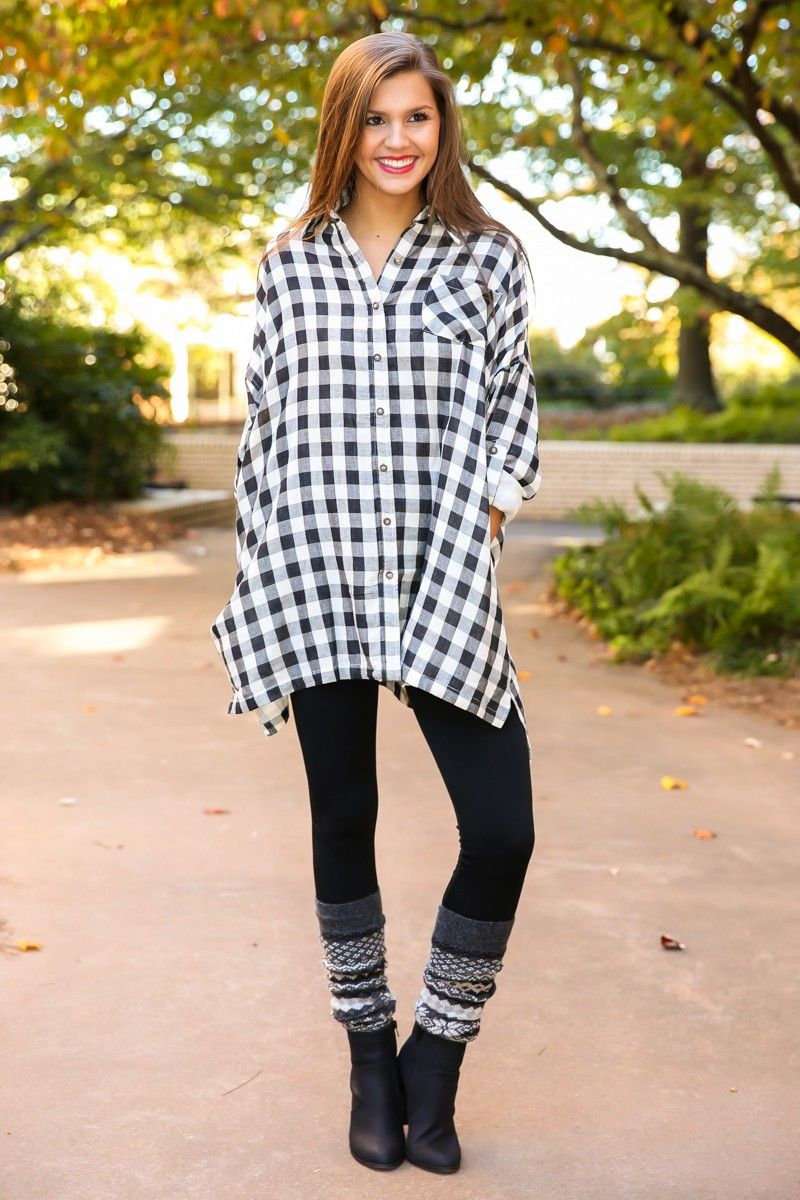 What's not to love about our Cabin Relaxation Plaid Tunic? It's like getting to wear your absolute favorite nightshirt out in public, and still look stunningly fashionable. Somebody pinch me, because I MUST be dreaming!! Just add a fringed scarf, some leggings, boot socks and your favorite boots and you are MORE than ready to go. You'll be complimented and gazed upon wherever you go! Flannel top buttons down the front, has a yoke on the back, and long sleeves with button tabs. Unlined. 100%…