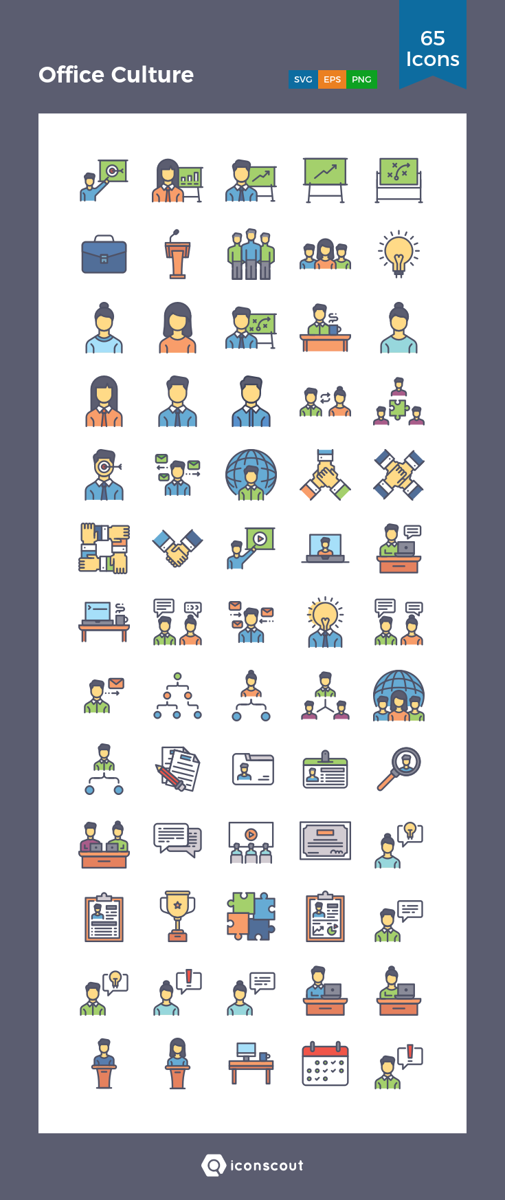 Download Office Culture Icon Pack Available In Svg Png Eps Ai