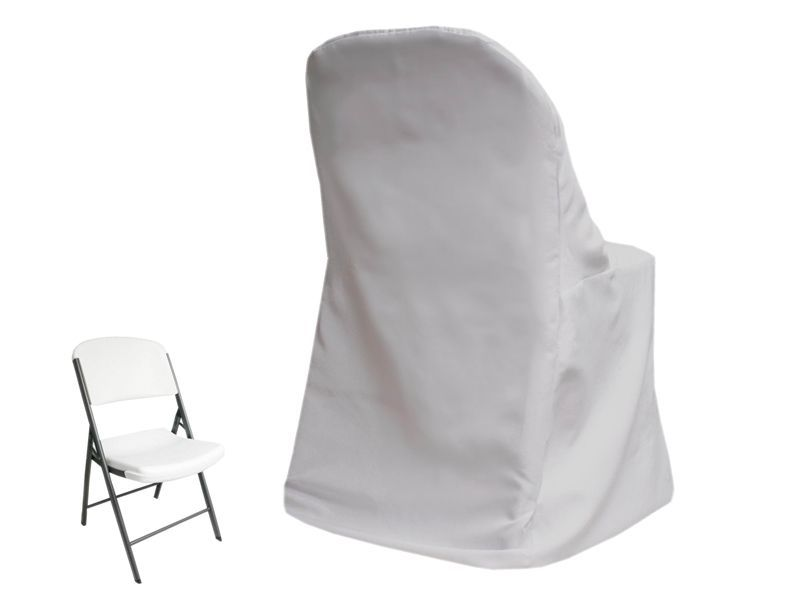 100 X White Lifetime Folding Chair Covers Wholesale Wedding Party