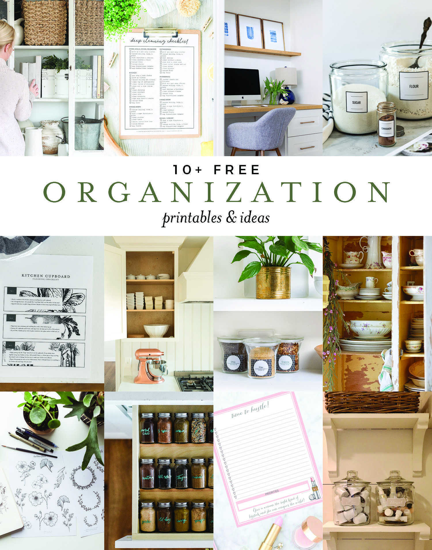 Over 10 Genius Organization Tips And Tricks With Free Printable To Help Organize Your Home Boxwoodavenue