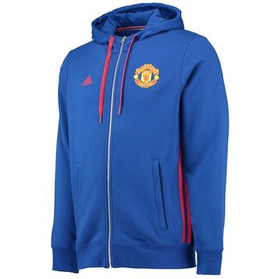 Manchester United Core Full Zip Hoody - Royal Blue: Manchester United Core  Full Zip Hoody