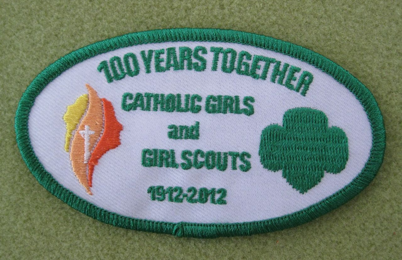 Girl Scout 100th Anniversary Catholic Youth Ministry patch. Thanks for the push, Margaret.