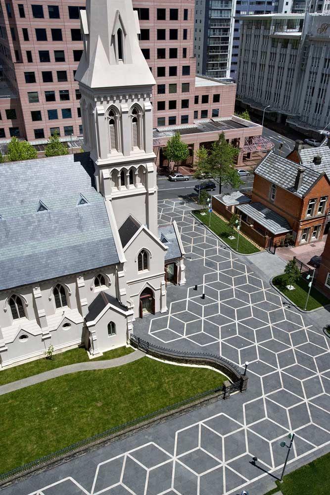 Urban Fountain On Church Square Landscape Architecture 07