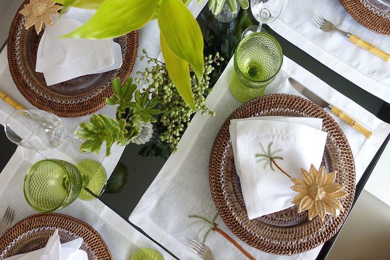 Mesa Posta Tropical E Elegante Vida De Casada Mesa Posta Mesa Decoracoes De Mesa