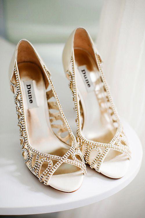 Glamorous Uk Barn Wedding Bridesmaids Heels Gold Wedding Shoes Dune Wedding Shoes