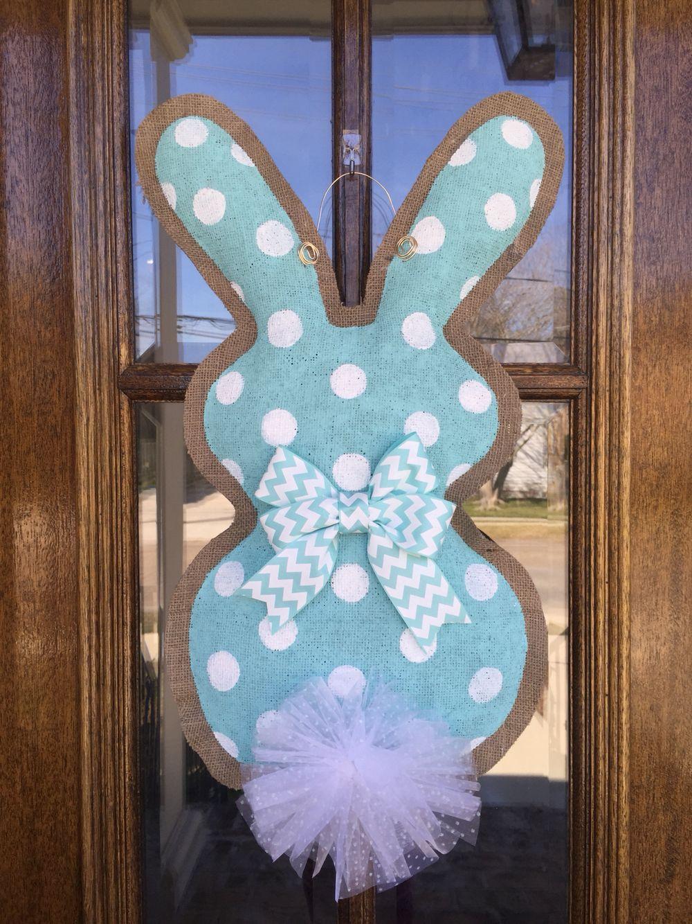 spring door hanger easter wreath spring door decor bunny door hanger Easter door hanger easter bunny doorhanger