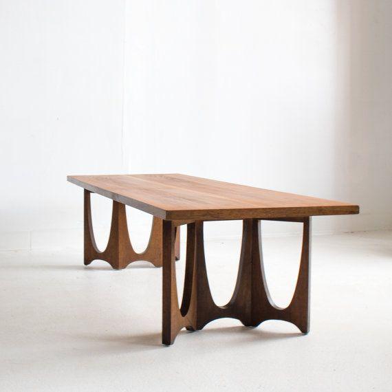 Mid Century Modern Walnut Broyhill Brasilia Coffee Table With