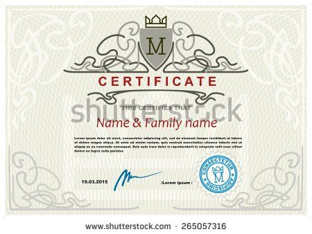 Certificate Modern Design Template  Stock Vector  Templates