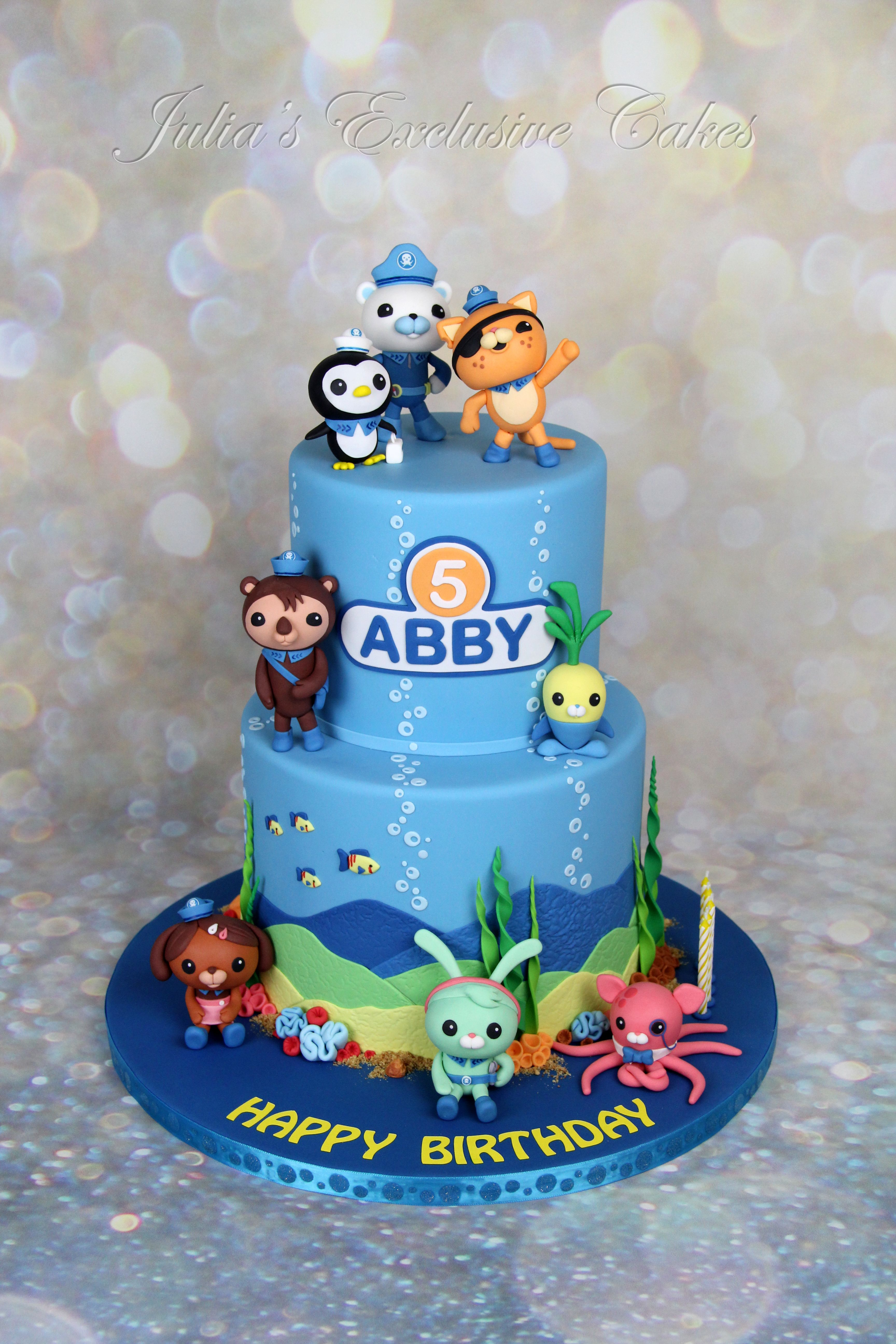 The Octonauts Theme Birthday Cake For A Girl