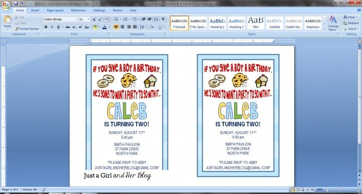 How to Make Your Own Party Invitations Party invitations, Home - how to make invitations on word