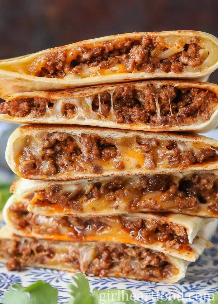 Photo of Cheesy Ground Beef Quesadillas