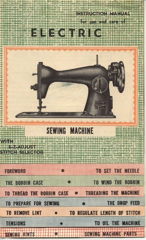 Precision deluxe sewing machine manual | thriftyfun.
